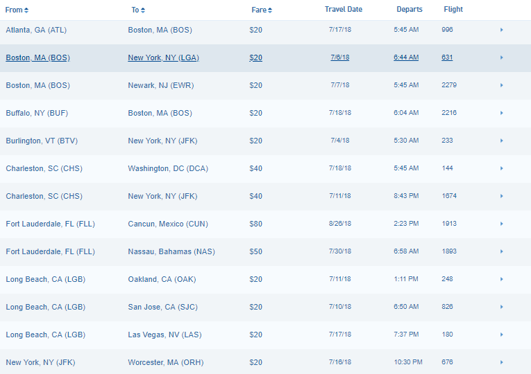 Jetblue Flash Sale Cheap Flights Across The Usa And
