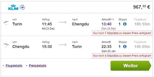 Turin - Chengdu - Turin