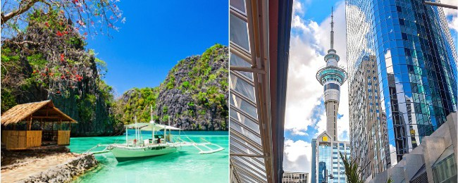 2 in 1: New Zealand and Philippines in one trip from New York from only $802!
