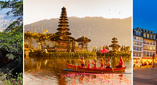 X-MAS & NYE! 5* Singapore Airlines around the World trip from the US from only $923!