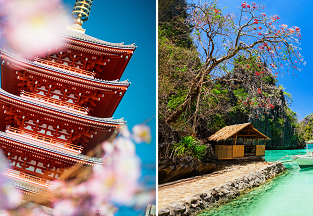 2 in 1: New York to Japan + either Philippines or Singapore from $618!