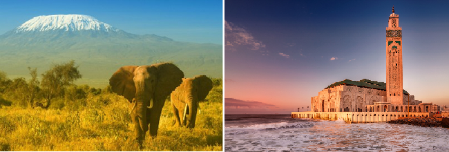 2 in 1: London to Morocco and Kenya for just £323!