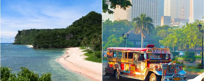 2 in 1: Manila and exotic Guam in one trip from Hong Kong for only $275!