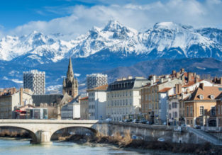 Weekend in Grenoble! 3 nights at central hotel + flights from London for just £70!