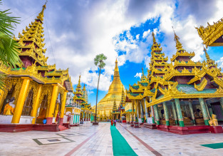 Cheap flights from London to Yangon, Myanmar for only £356!