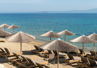 May! 7-night stay in top-rated hotel in Halkidiki Peninsula + flights from Bratislava for only €76!