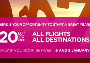 Wizz Air sale: 20% off all flights! Now open to everybody!