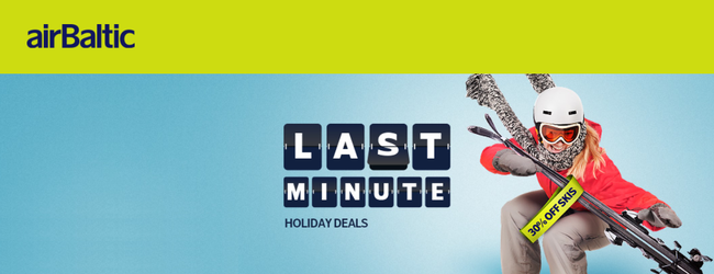 airBaltic Holiday Sale: Flights from only €19 each way!