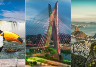 2 in 1: Los Angeles to Sao Paulo and Iguazu Falls for $574! 3 in 1 with Rio for 641!