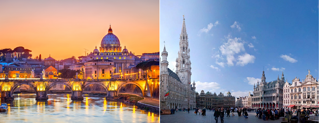 EUROTRIP: 4 or 5 European Capitals in one trip from London from £76!