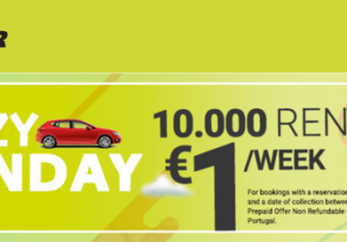 Crazy Monday: Goldcar car rental from only €1/week!