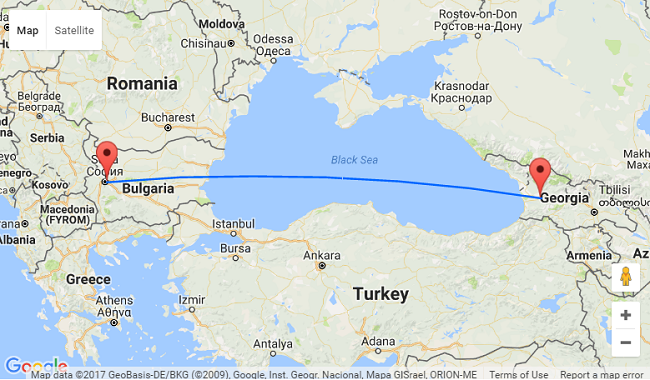 Fly from sofia to georgia for only 20 for Georgia trout fishing map