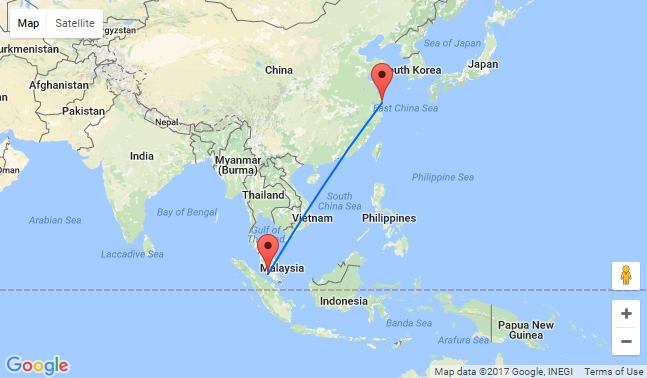 Non Stop From Shanghai To Kuala Lumpur For 201 Full