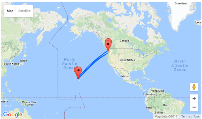 NYE And Valentines Seattle Or Portland To Hawaii From Only - Hawaii world map