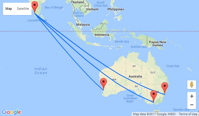 Australian cities to Kochi, India from just AU$296!