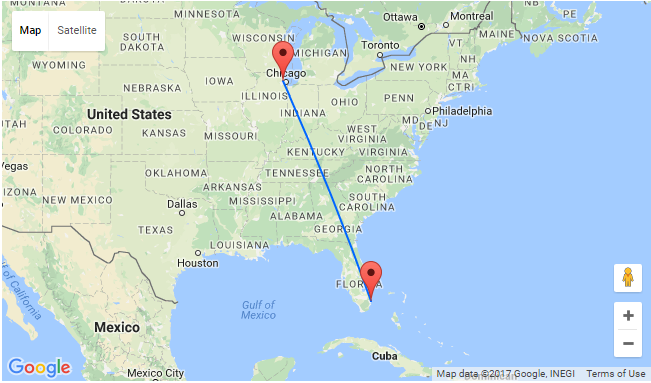 Chicago To Florida And Vice Versa For Just 100