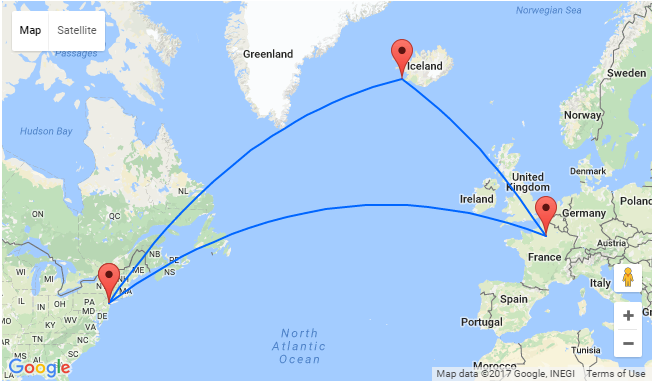 New york to paris for only 339 add a stop in iceland for for Flights ny to paris