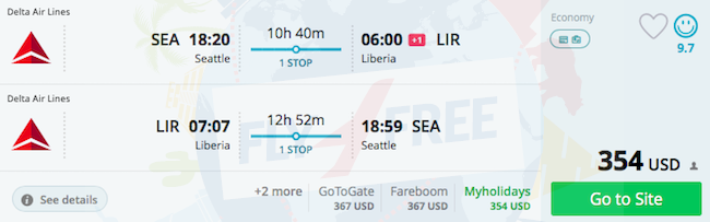 Seattle Or Portland To Costa Rica From 341