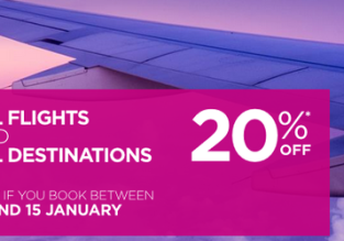 Wizz Air: 20% discount on all flights! Open to everybody!