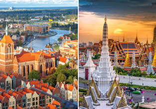 AU cities to Copenhagen, Denmark from AU$821! 2 in 1 with Thailand for AU$36 more!