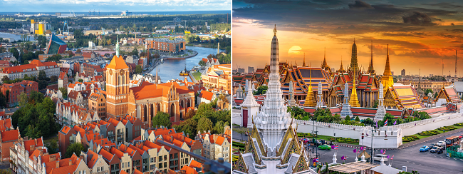 AU cities to Copenhagen, Denmark from AU$954! 2 in 1 with Thailand for AU$88 more!