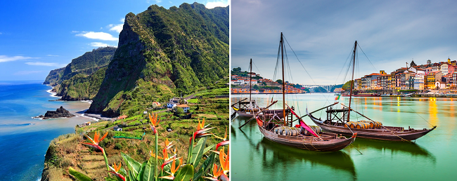SUMMER 2 in 1: Porto and Madeira in one trip from Stuttgart for only €108!