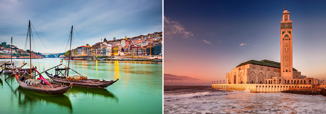 Casablanca, Morocco and Porto, Portugal in one trip from NYC for $407!