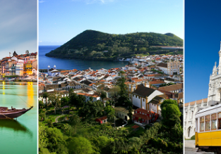 Porto, Azores and Lisbon in one trip from Frankfurt for only €36!
