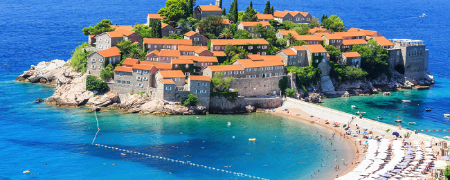 4-night stay in Montenegro + flights from Stockholm for only €70!