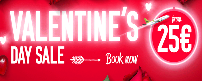airBaltic Valentine's day: flights from €25 one way!
