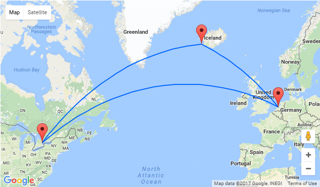 Amsterdam To Toronto For Only 293 Stopover In Iceland