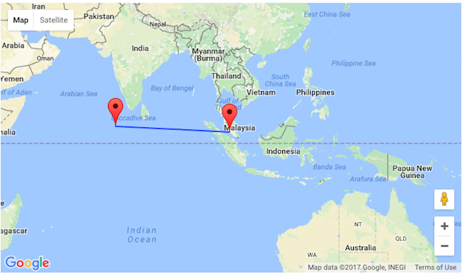Nonstop From Kuala Lumpur To Maldives For Only Oneway Or - Maldives map india