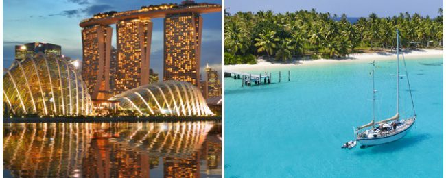 Singapore and exotic Cocos (Keeling) Islands in one trip from London for only £628! 3 in 1 with Australia for 743!