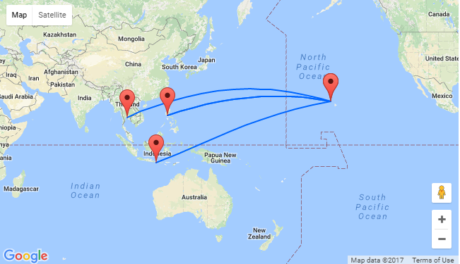 Honolulu Hawaii To South East Asia From Only 479