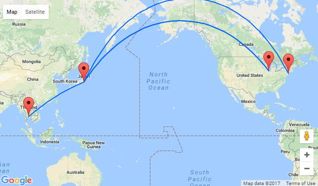 2 In 1 New York Or Chicago To Tokyo Amp Bangkok In One Trip