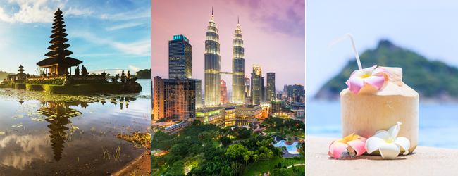 Discover Southeast Asia! Singapore, Bali, Surabaya, Kuala Lumpur, Langkawi, Penang, Phuket, Bangkok and Krabi in one trip from Berlin for €449!