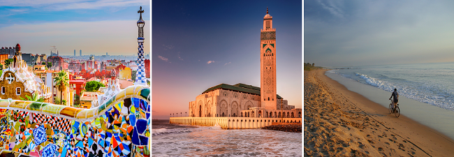 3 in 1: Spain, Morocco and Gambia from London for £236!