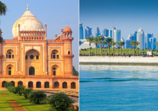 2 in 1: Montreal to India & Qatar from just C$797!