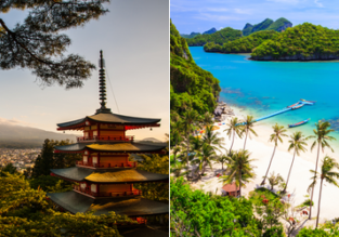 5* ANA: Japan and Thailand or Cambodia or Malaysia in one trip from New York or Chicago from $598!