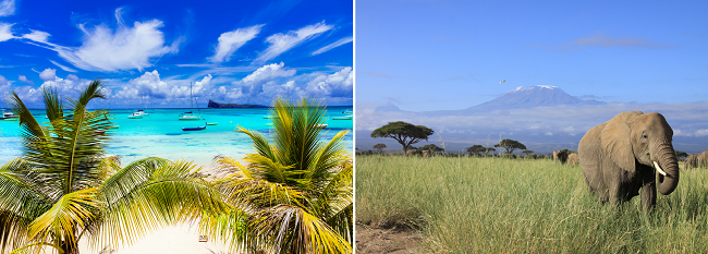 SUMMER, X-MAS & NEW YEAR: Mauritius and Kenya in one trip from Mumbai for $484!