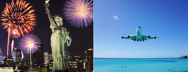 Xmas and NYE: Several European Cities to New York + Grand Cayman,. St. Martin or St. Lucia from €535!