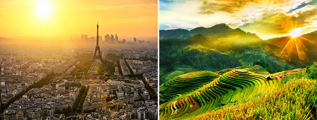 Sydney & Melbourne to both Paris, France and Ho Chi Minh City, Vietnam from AU$911!