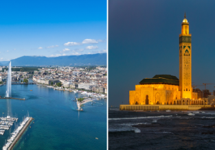 Casablanca, Morocco and Geneva, Switzerland in one trip from NYC for $387!