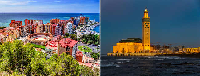 Casablanca, Morocco and Spain (choice of 4 cities) in one trip from NYC from $381!