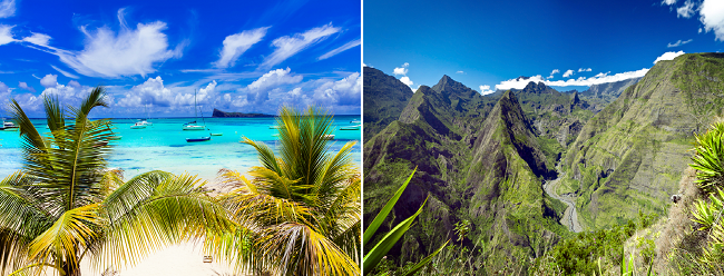 X-mas & New Year 3 in 1: Reunion, Mauritius and Chennai from Mumbai for $564!