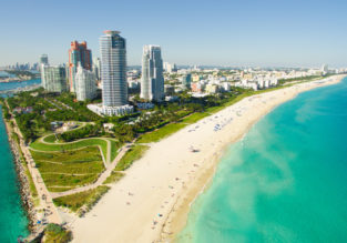 Holiday in Miami Beach! 7 nights at well-rated hotel + cheap flights from Paris for €398!