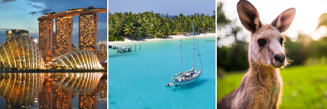 Exotic 3 in 1: Singapore, Christmas Island and Australia in one trip from London for £907!