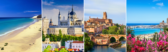 Toulouse, Madrid, Gran Canaria and Fuerteventura in one trip from London for £80!