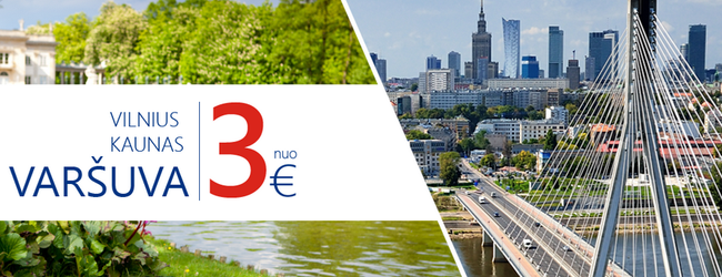 Eurolines: bus tickets from Lithuania to Warsaw from just €2 one way!