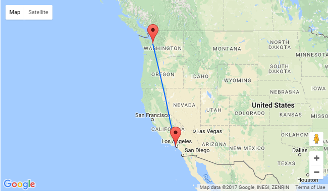 Fly From Seattle To Los Angeles Or Vice Versa For Only 87
